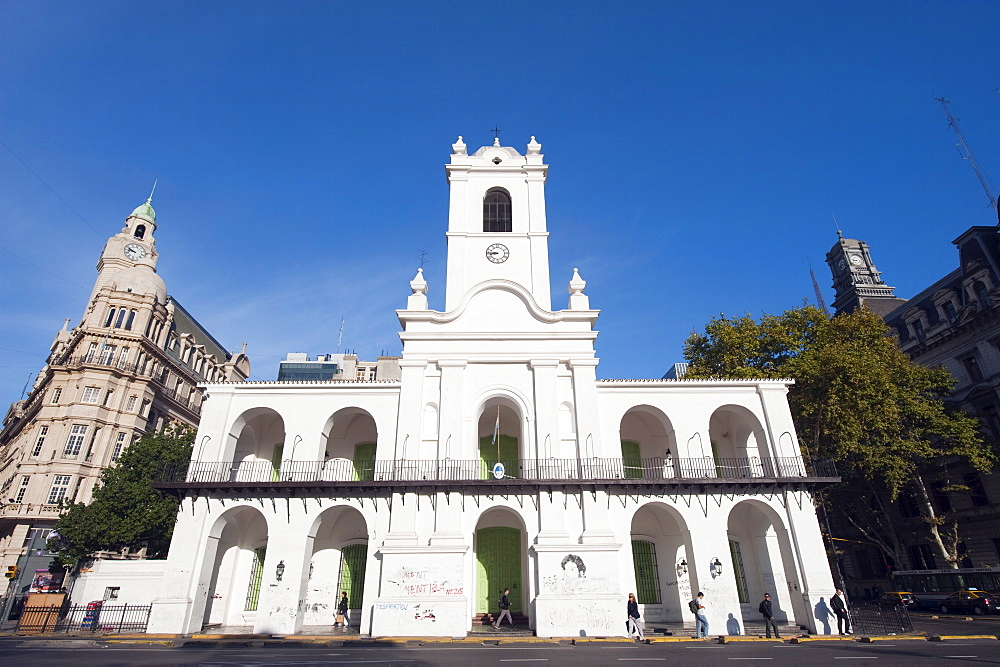 Church in Plaza de Mayo, Buenos Aires, Argentina, South America