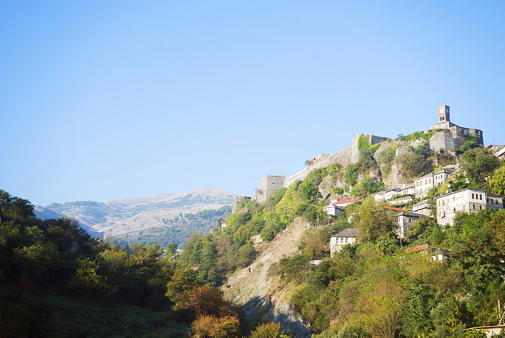 Castle, Gjirokaster, UNESCO World Heritage Site, Albania, Europe