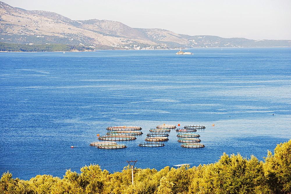 Fishing nets, Butrint, Albania, Mediterranean, Europe