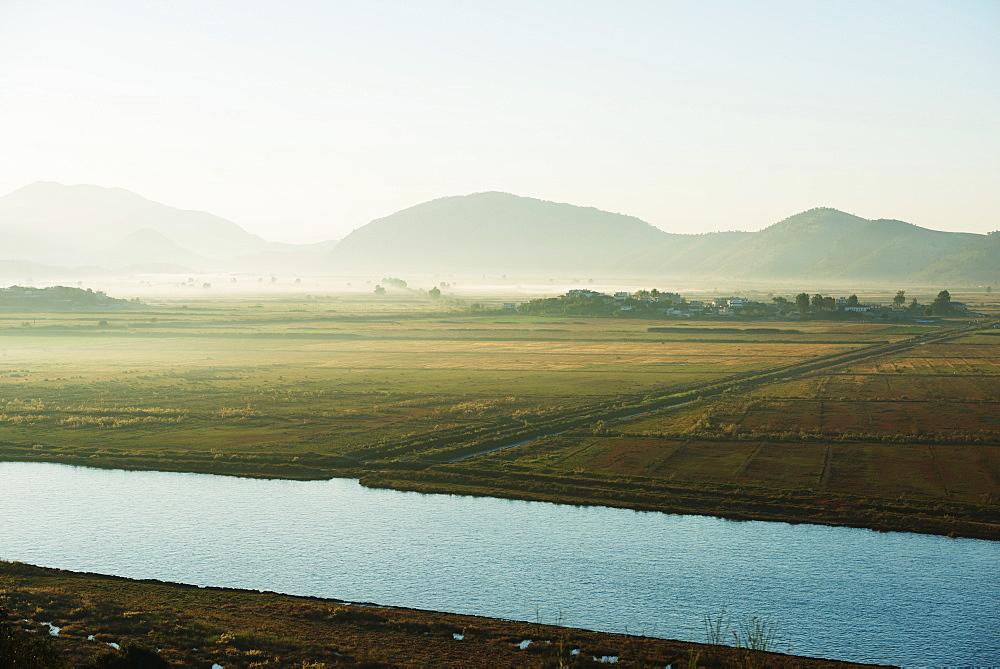 Morning mist, Butrint, Albania, Europe