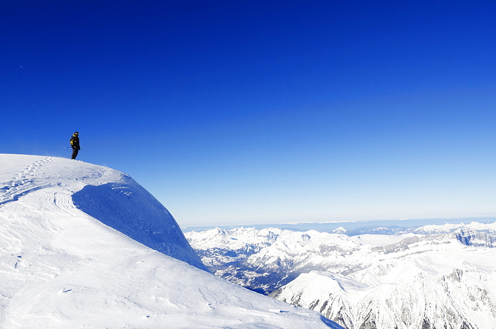 Aiguille du Midi ridge, Chamonix, Haute-Savoie, French Alps, France, Europe