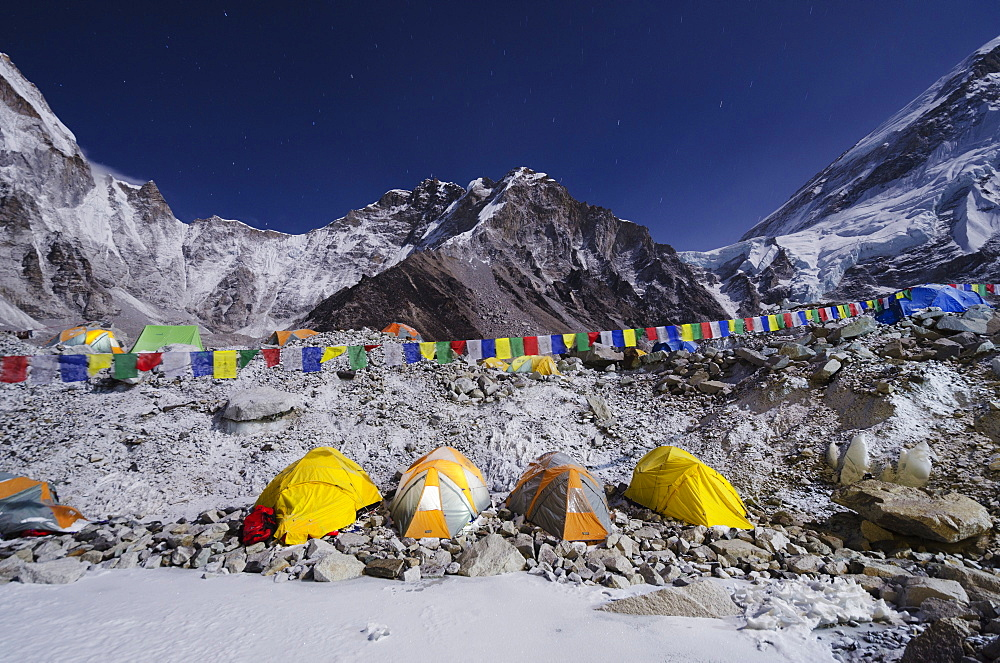 Tents at Everest Base Camp, Solu Khumbu Everest Region, Sagarmatha National Park, UNESCO World Heritage Site, Nepal, Himalayas, Asia