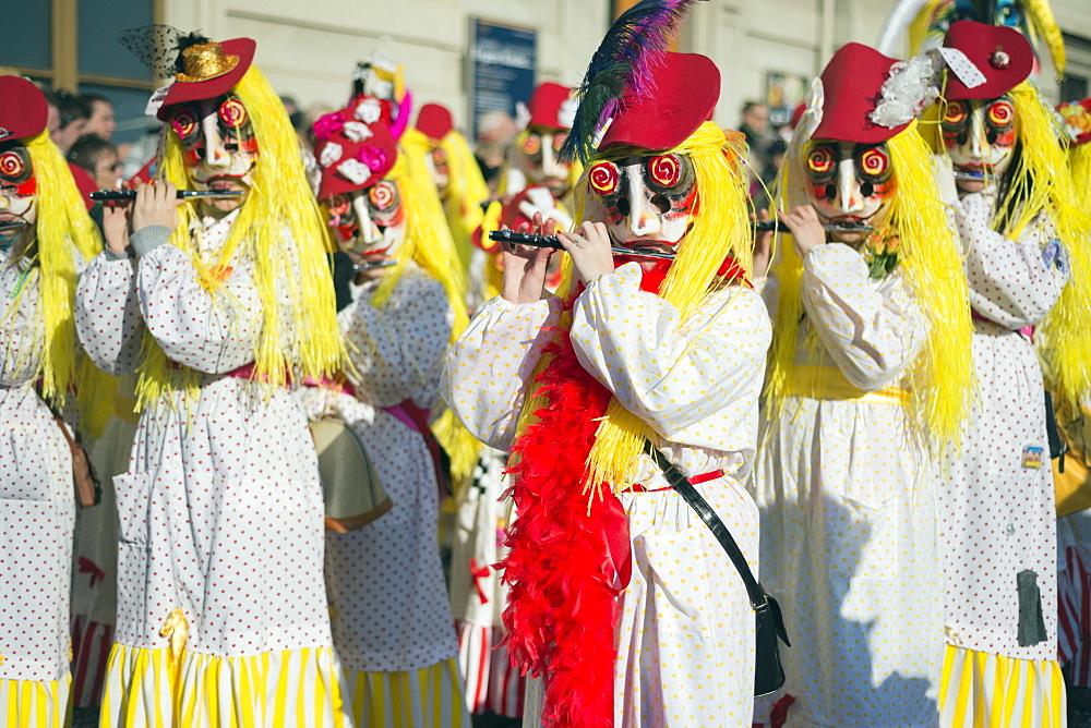 Fasnact spring carnival parade, Basel, Switzerland, Europe - 733-5953