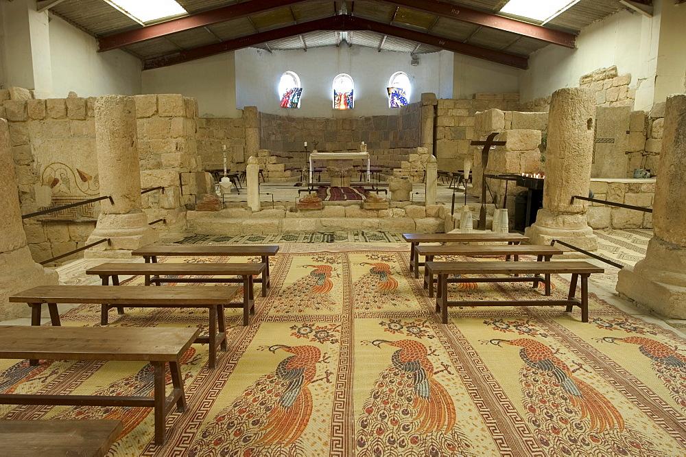 Floor mosaics, Moses Memorial Church, Mount Nebo, East Bank Plateau, Jordan, Middle East