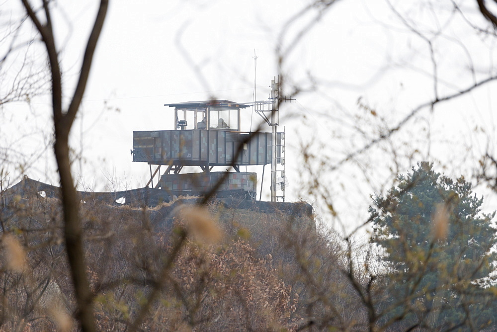 Border watch tower, DMZ (Demilitarized Zone) on the border of North and South Korea, South Korea, Asia