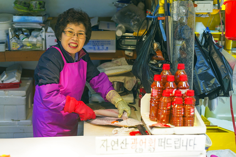 Incheon fish market, Seoul, South Korea, Asia