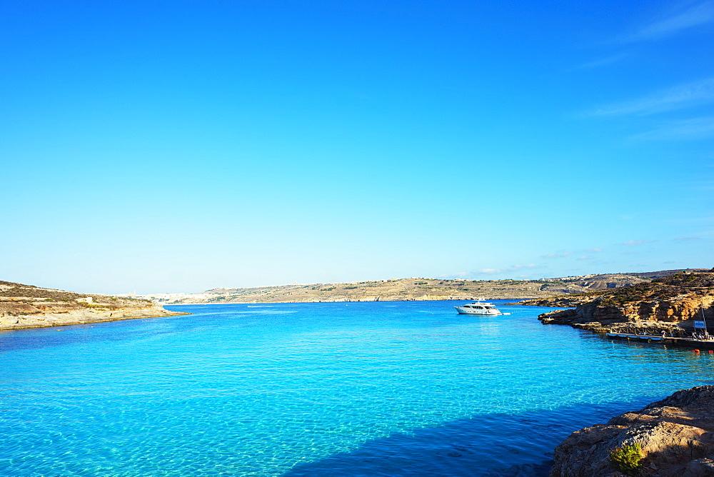 Blue Lagoon, Comino Island, Malta, Mediterranean, Europe