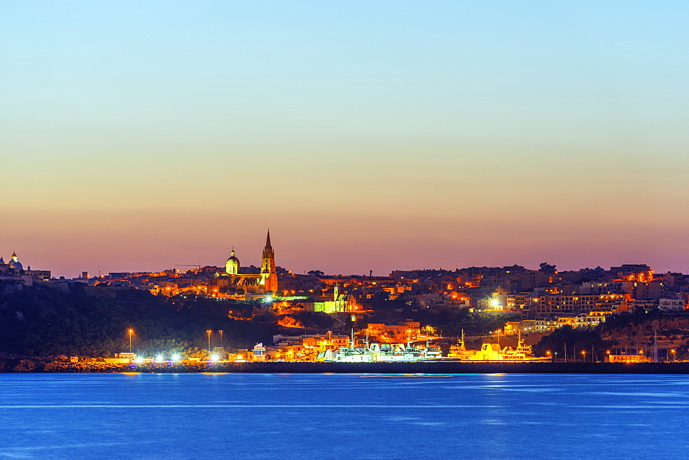 Port town of Mgarr, Gozo Island, Malta, Mediterranean, Europe
