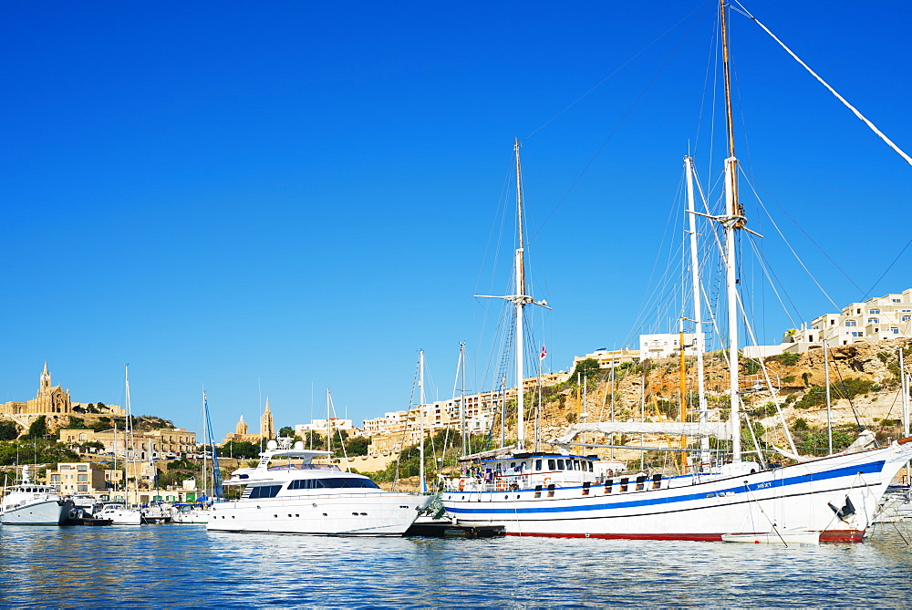 Mgarr Harbour, Gozo Island, Malta, Mediterranean, Europe