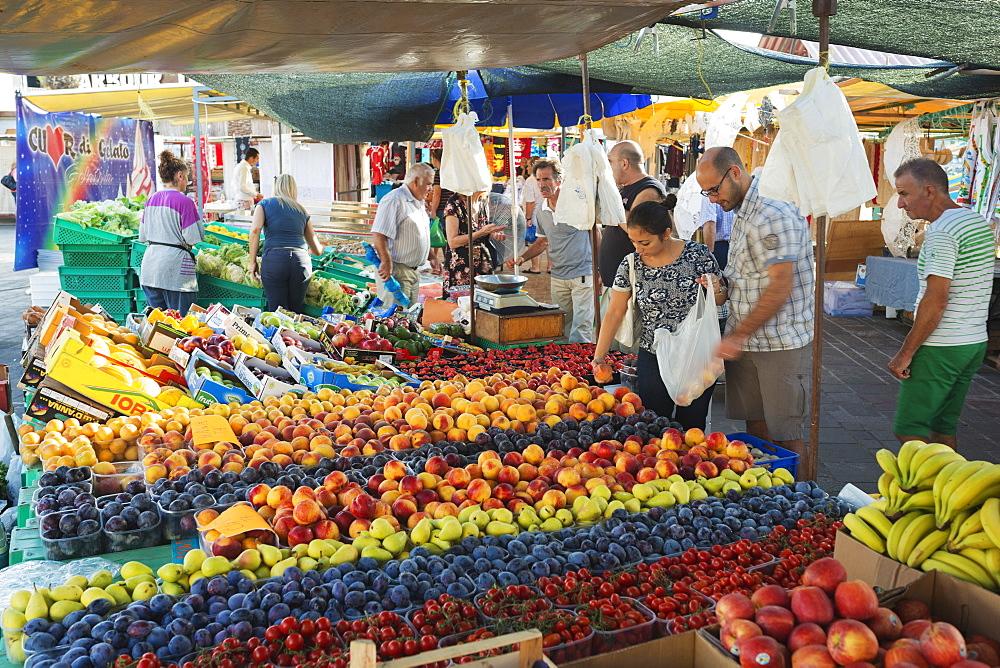 Sunday market, Marsaxlokk harbour, Malta, Europe