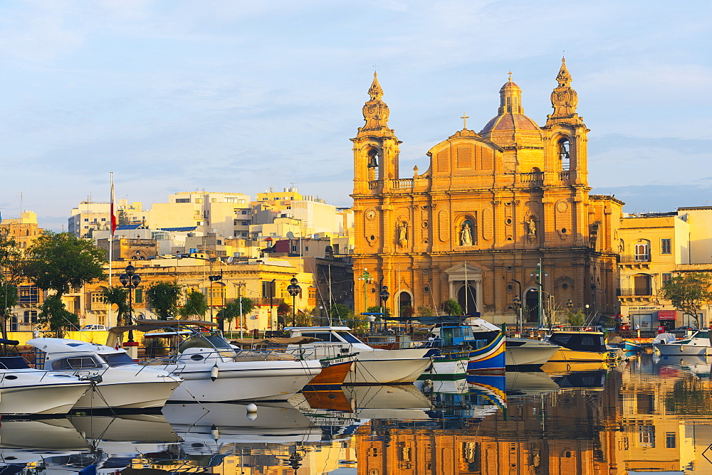 St. Joseph's Church, Msida Creek Harbour, Valletta, Malta, Mediterranean, Europe