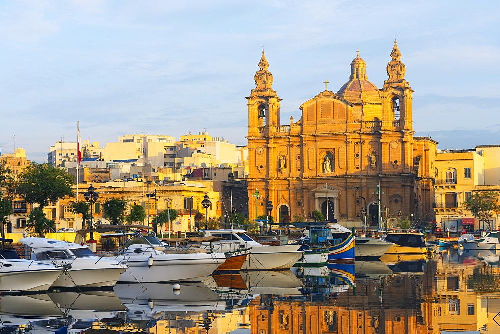 St. Joseph's Church, Msida Creek Harbour, Valletta, Malta, Mediterranean, Europe