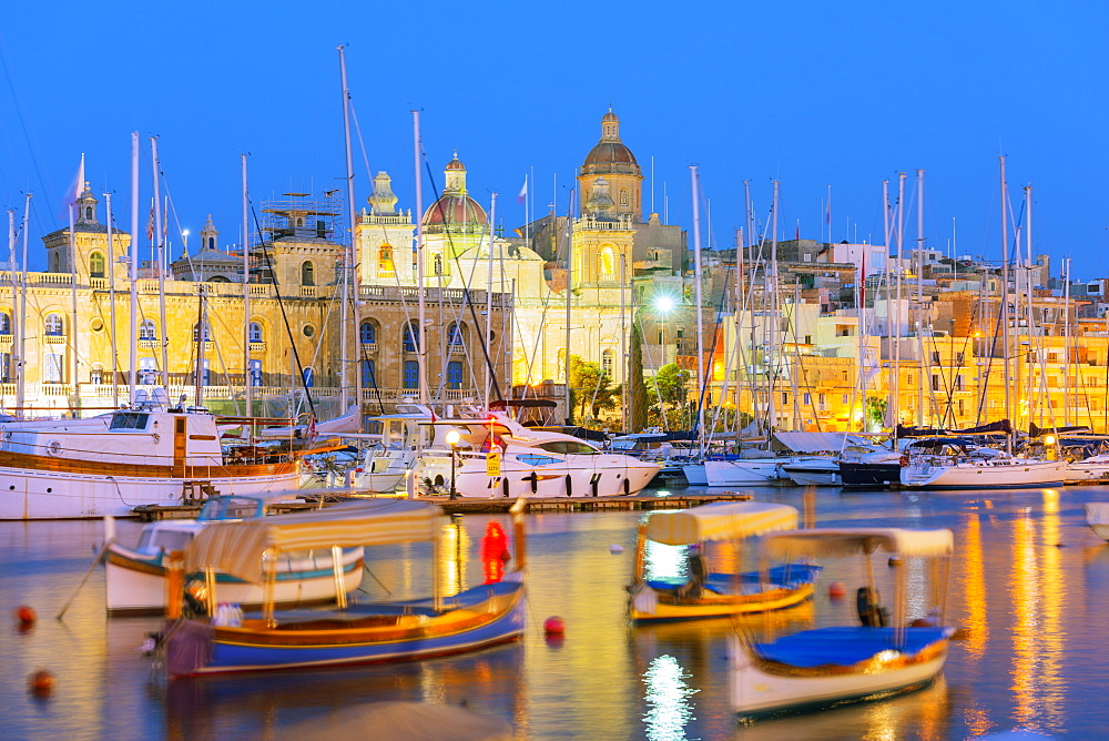 Grand Harbour Marina, Vittoriosa (Birgu), The Three Cities, Malta, Mediterranean, Europe