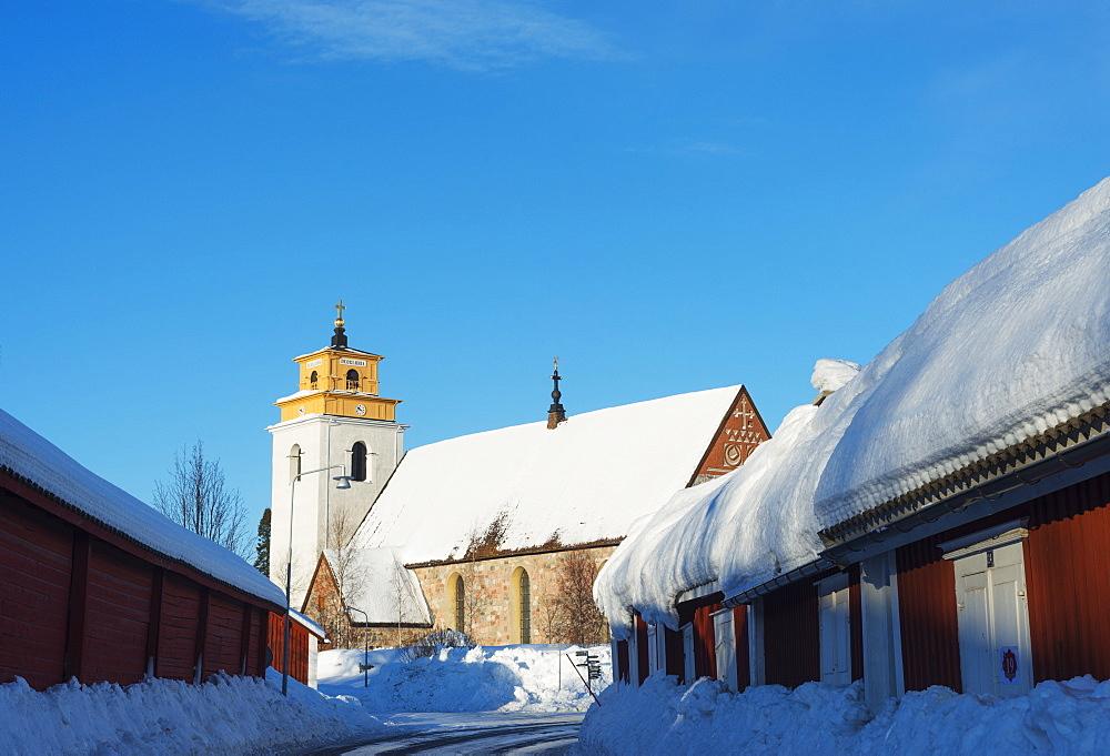Gamelstad Old Town, UNESCO World Heritage Site, Lulea, Lapland, Arctic Circle, Sweden, Scandinavia, Europe