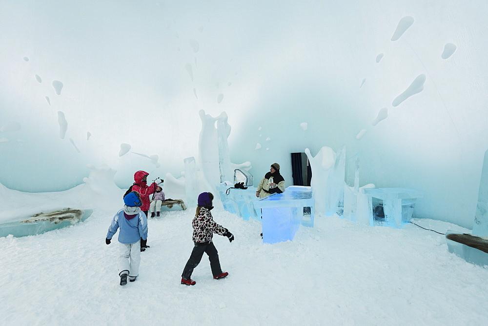 Ice Bar, Ice Hotel, Kiruna, Lapland, Arctic Circle, Sweden, Scandinavia, Europe
