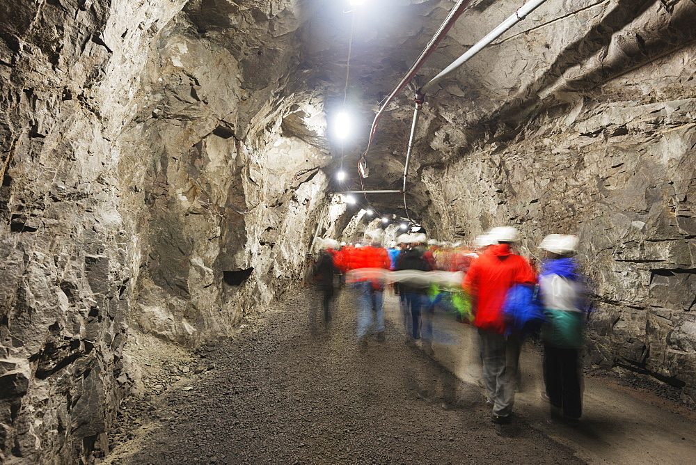 LKAB mining tour, largest underground iron ore mine in the world, Kiruna, Lapland, Arctic Circle, Sweden, Scandinavia, Europe