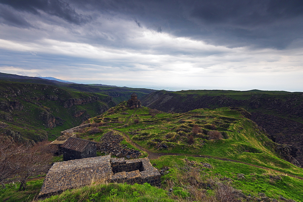 Church at Amberd fortress located on the slopes of Mount Aragat, Aragatsotn Province, Armenia, Caucasus, Central Asia, Asia