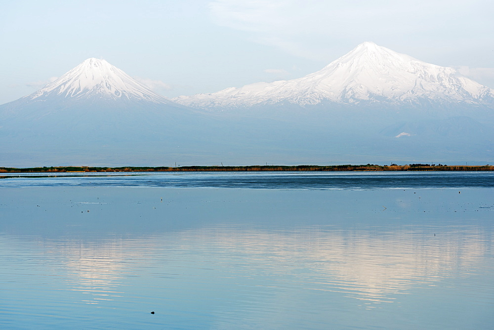 Mount Ararat, 5137m, highest mountain in Turkey photographed from Armenia, Caucasus, Central Asia, Asia