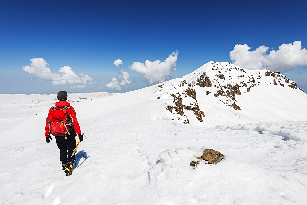Mount Aragats, 4090m, highest mountain in Armenia, Aragatsotn Province, Armenia, Caucasus, Central Asia, Asia