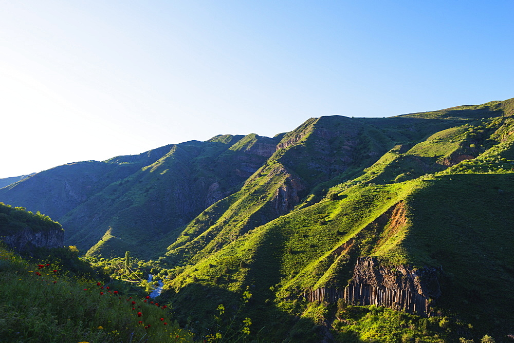 Symphony of Stones basalt columns, UNESCO World Heritage Site, Garni, Kotayk Province, Armenia, Caucasus, Central Asia, Asia
