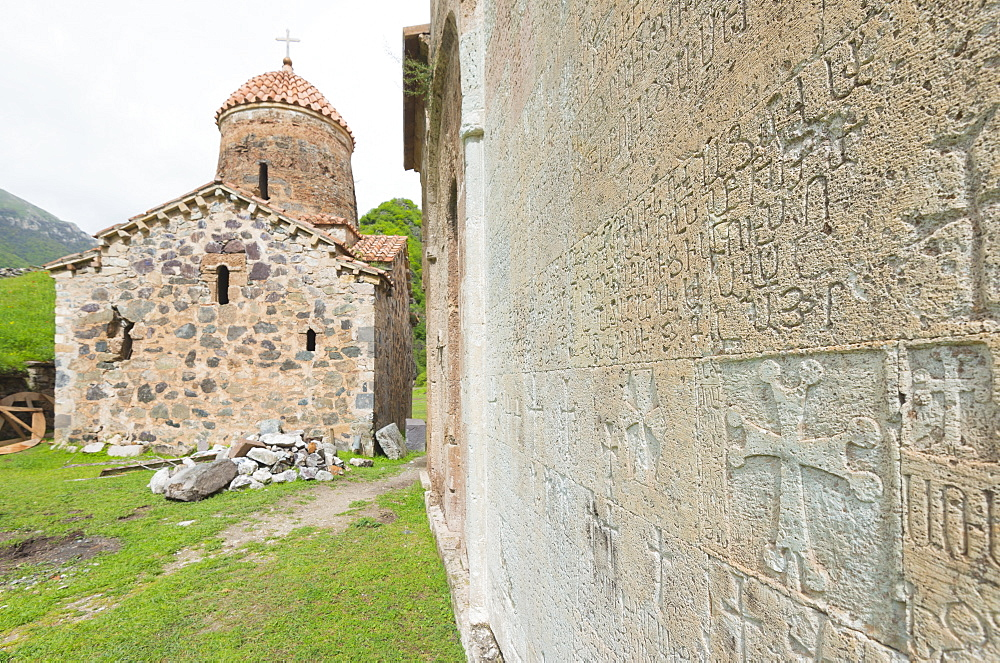 Dadivank Monastery, independent Armenian enclave officially within Azerbaijan, Nagorno-Karabakh, Armenia, Caucasus, Central Asia, Asia