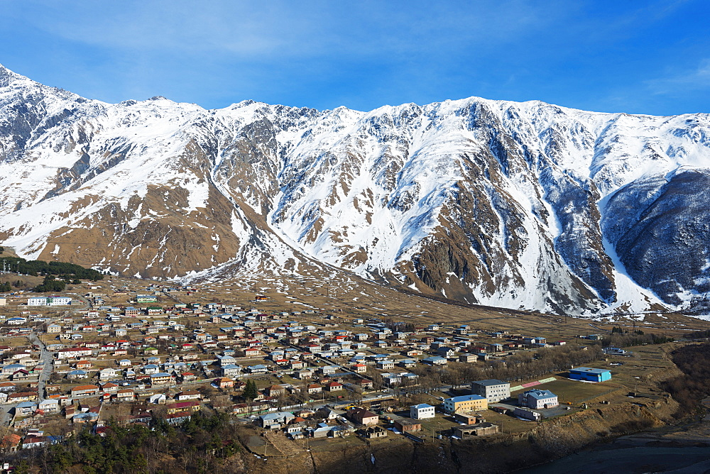 Stepantsminda, Kazbegi, Georgia, Caucasus region, Central Asia, Asia