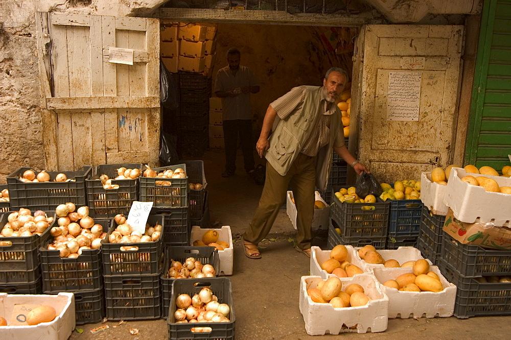 Fruit seller, Tripoli, Lebanon, Middle East
