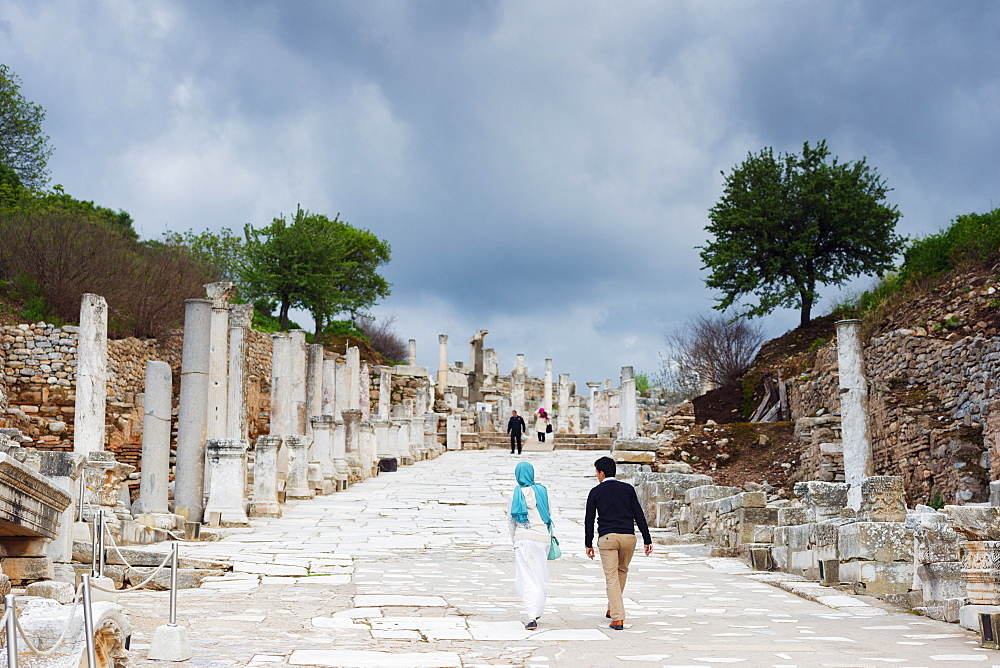 Ephesus, ancient Roman ruins, Selcuk, Anatolia, Turkey, Asia Minor, Eurasia