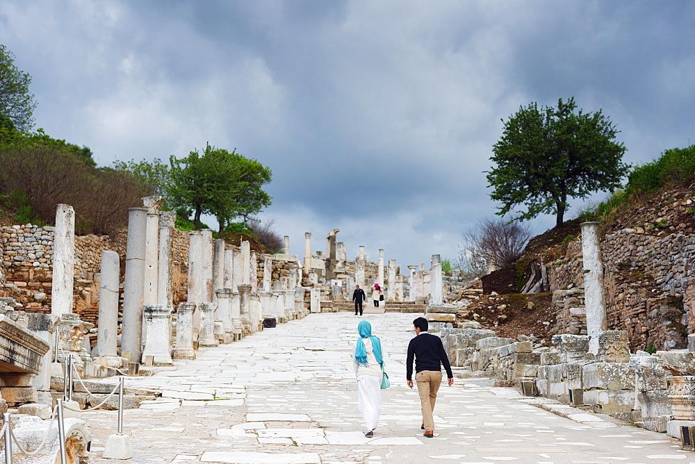 Ephesus, ancient Roman ruins, Selcuk, Anatolia, Turkey, Asia Minor, Eurasia