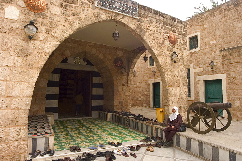 Going to prayers at Taynal Mosque, Tripoli, Lebanon, Middle East