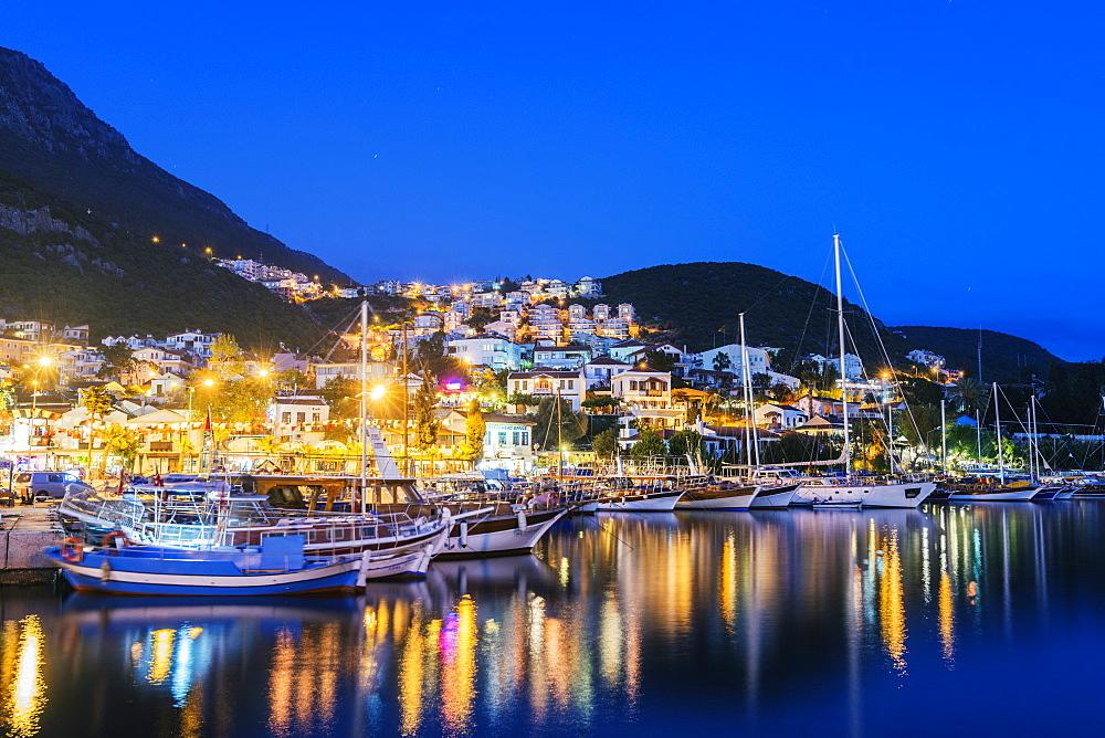 Kas harbour, Lycia, Turquoise Coast, Mediterranean Region, Anatolia, Turkey, Asia Minor, Eurasia - 733-6908
