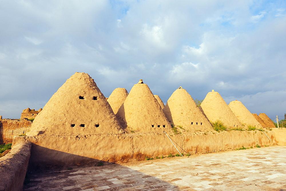 Bee-hive mud brick houses, village of Harran, Anatolia, Turkey, Asia Minor, Eurasia