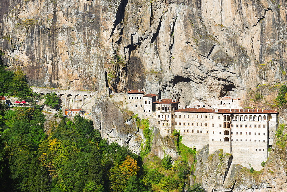 Sumela Monastery, Greek Orthodox Monastery of the Virgin Mary, Black Sea Coast, Trabzon Province, Anatolia, Turkey, Asia Minor, Eurasia