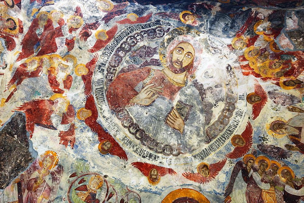 Frescoes at Sumela Monastery, Greek Orthodox Monastery of the Virgin Mary, Black Sea Coast, Trabzon Province, Anatolia, Turkey, Asia Minor, Eurasia
