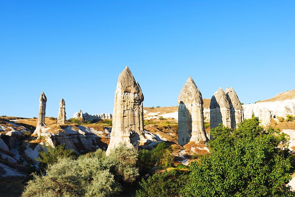 Landscape at Goreme, UNESCO World Heritage Site, Goreme, Cappadocia, Anatolia, Turkey, Asia Minor, Eurasia
