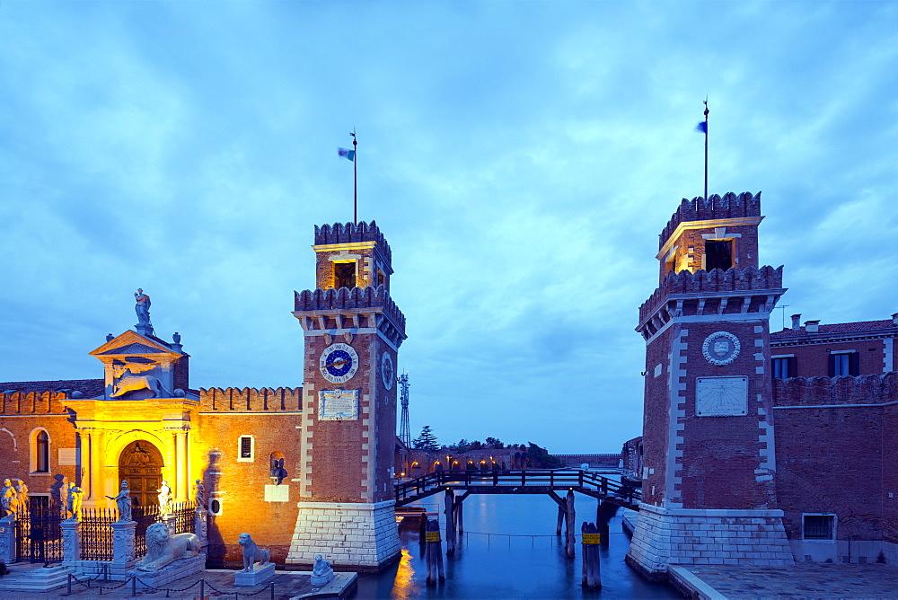 Arsenale gates, Venice, UNESCO World Heritage Site, Veneto, Italy, Europe