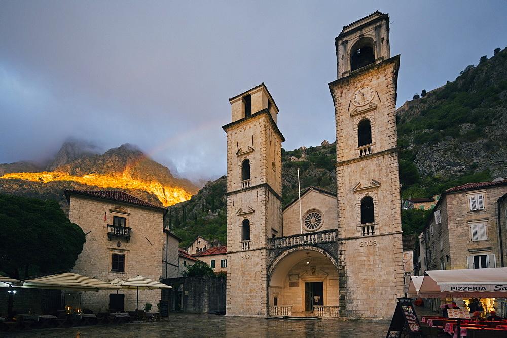 Svetog Tripuna Cathedral, Kotor, UNESCO World Heritage Site, Montenegro, Europe