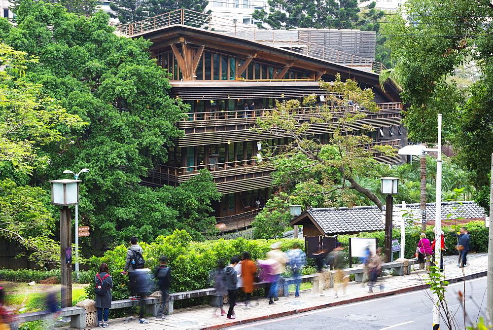 Beitou wooden library, Taipei, Taiwan, Asia