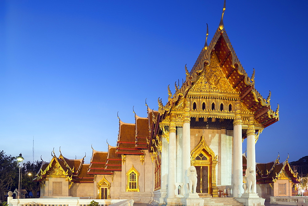 Wat Benchamabophit (The Marble Temple), Bangkok, Thailand, Southeast Asia, Asia