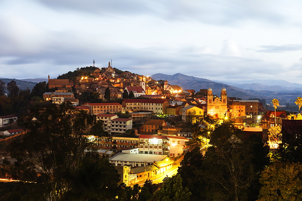 Fianarantsoa Haute Ville in the evening, central area, Madagascar, Africa