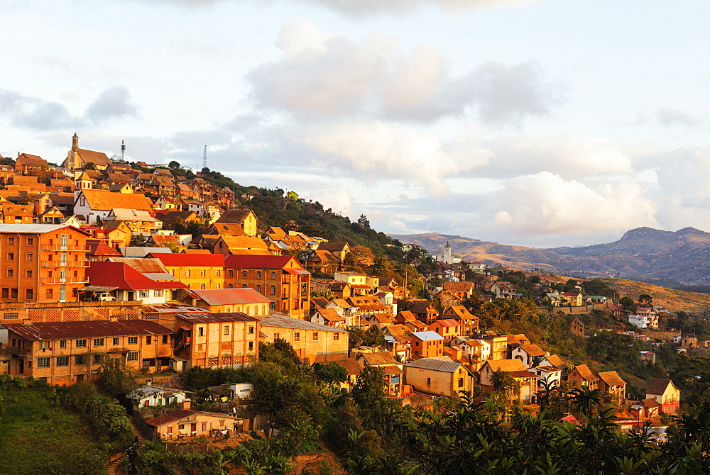 Fianarantsoa Haute Ville in the afternoon, central area, Madagascar, Africa