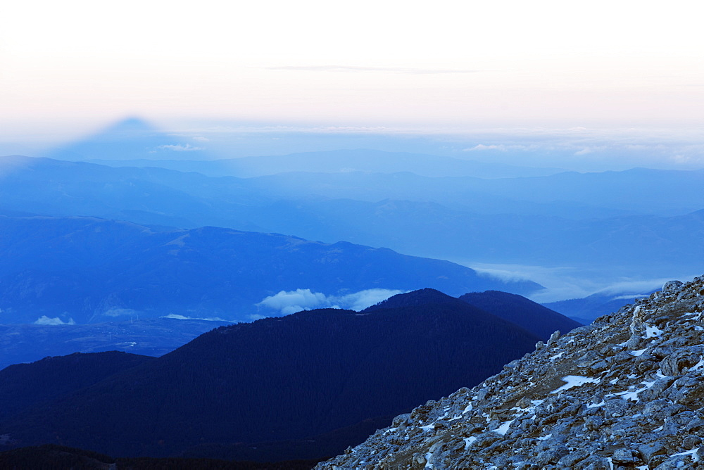 Shadow of Mount Vihren, 2945m, Pirin National Park, UNESCO World Heritage Site, Bansko, Bulgaria, Europe