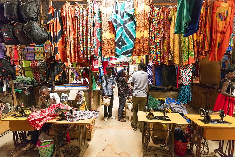 Clothing market, Kigali, Rwanda, Africa