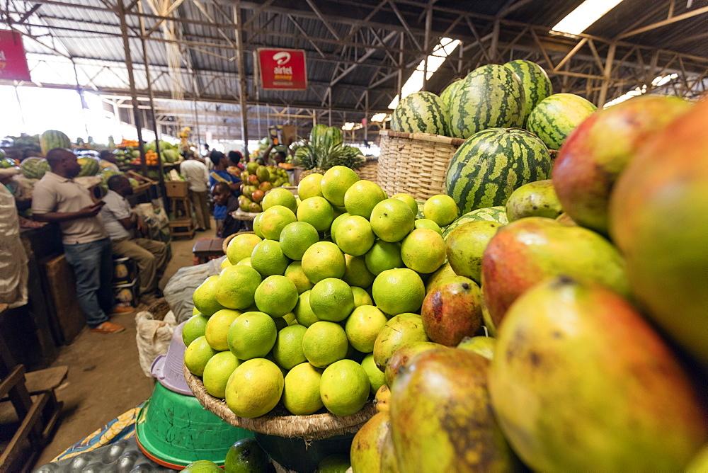 Fresh produce market, Kigali, Rwanda, Africa