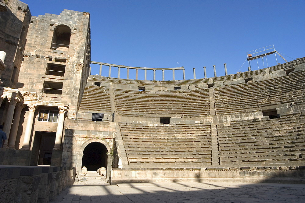 The Roman Theatre, Citadel, Bosra, UNESCO World Heritage Site, Syria, Middle East
