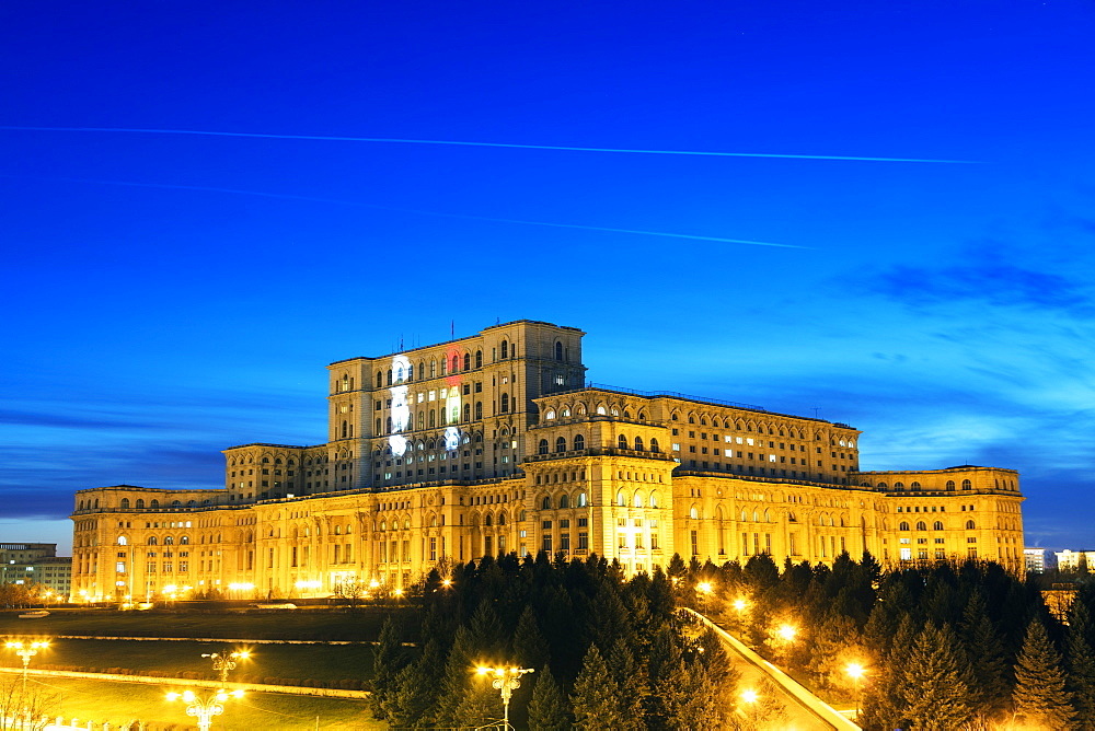 Eastern Europe, Romania, Bucharest, Palace of the Parliament, second biggest building in the world