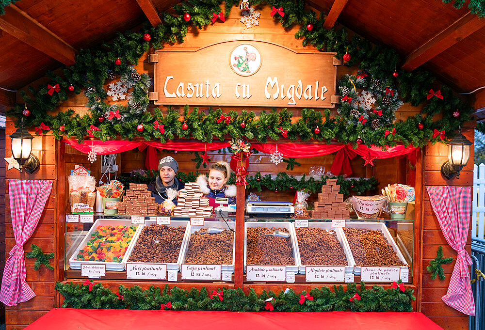 Christmas market, Bucharest, Romania, Europe