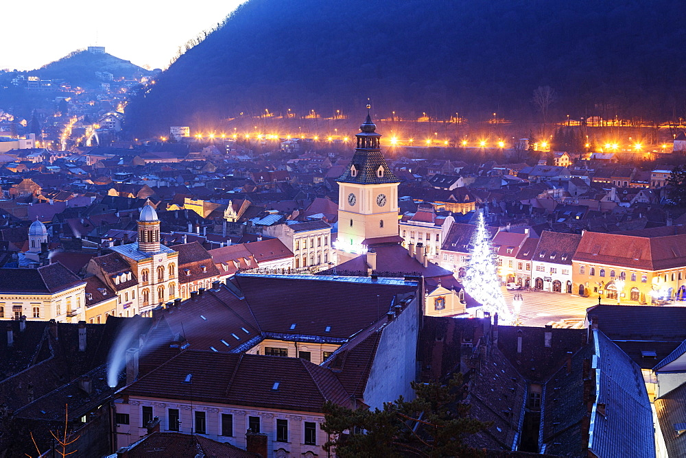 History Museum and old town buildings, Brasov, Romania, Europe