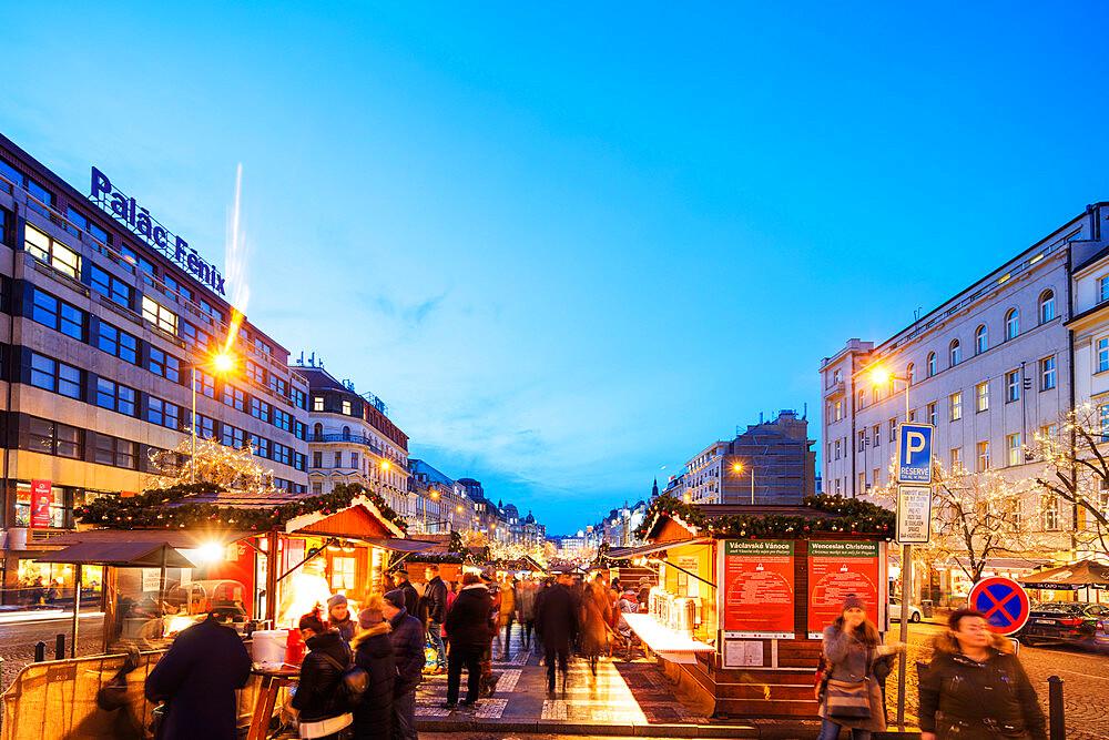 Christmas lights, Prague, Czech Republic, Europe