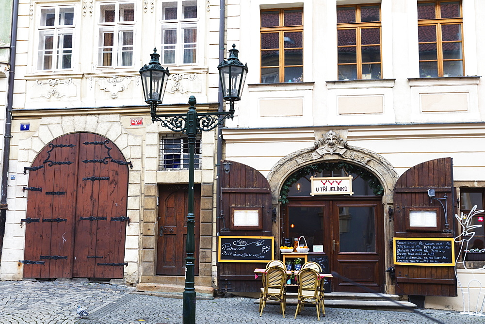 Europe, Czech Republic, Prague, street cafe